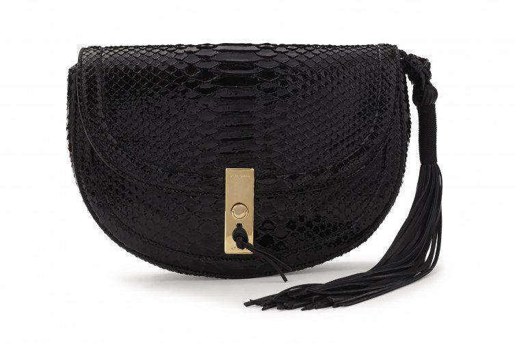 "Show You The Ultra Hip ""Ghianda"" Crossbody Bag In Black Python"