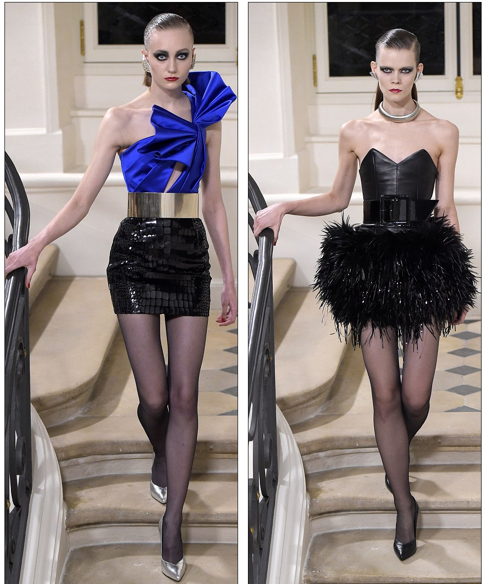 Yves Saint Laurent Models Dazzle In Puffball Skirts